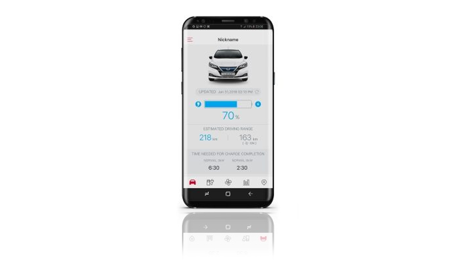 De Nissan-Connect EV App